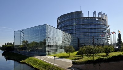 Illustration of the European Parliament in Strasbourg
